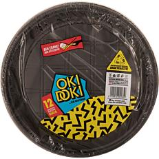 Πιάτα PP πλαστικά μαύρα 23cm (12τεμ.)