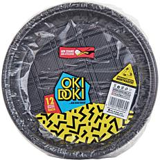 Πιάτα PP πλαστικά μαύρα 12cm (12τεμ.)