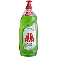 Απορρυπαντικό πιάτων AVA action αντλία ξύδι και πράσινο μήλο, υγρό (650ml)