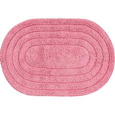Ταπέτο oval βαμβακερό ροζ 40x60