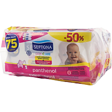 Μωρομάντηλα SEPTONA calm n' care panthenol (3x75τεμ.)