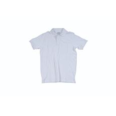 Μπλούζα ZEDEM ανδρική πόλο πικέ βαμβακερή με τσέπη, λευκή