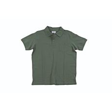 Μπλούζα ZEDEM ανδρική πόλο πικέ βαμβακερή με τσέπη, λαδί