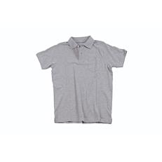 Μπλούζα ZEDEM ανδρική πόλο πικέ βαμβακερή με τσέπη, ανοιχτό γκρι