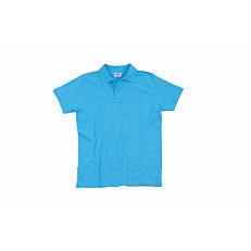 Μπλούζα ZEDEM ανδρική πόλο πικέ βαμβακερή με τσέπη, γαλάζια