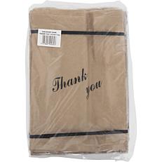 """Χαρτοσακούλες κραφτ """"Thank you"""" 37x25,5cm (5kg)"""