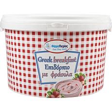 Έδεσμα γιαουρτιού Greek Breakfast με φράουλα (5kg)