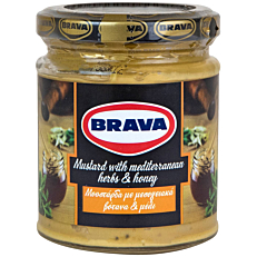 Μουστάρδα BRAVA με βότανα και μέλι (200g)