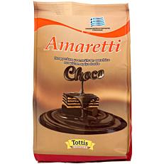 Γκοφρέτα AMARETTI choco με επικάλυψη σοκολάτας και γέμιση κρέμα κακάο (135g)