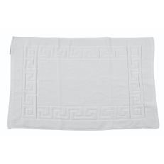 Πατάκι μπάνιου λευκό με σχήμα μαίανδρο