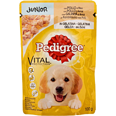 Τροφή PEDIGREE σκύλου vital protection με κοτόπουλο και ρύζι σε σάλτσα (100g)