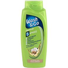 Σαμπουάν WASH & GO για όλους τους τύπους μαλλιών (700ml)