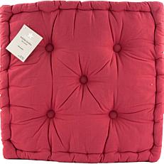Μαξιλάρι YASEMI καρέκλας βαμβακερό κόκκινο 50x50x10cm