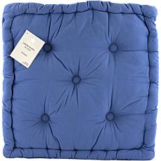 Μαξιλάρι YASEMI καρέκλας βαμβακερό μπλε 50x50x10cm