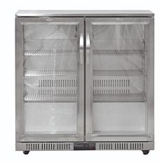 Βιτρίνα μπουκαλιών inox με 2 πόρτες (200lt)