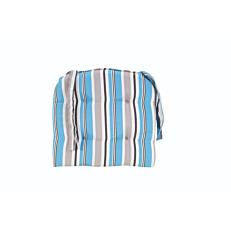 Μαξιλάρι διακοσμητικό με φερμουάρ και σιέλ νηματοβαφή 40x40x5cm