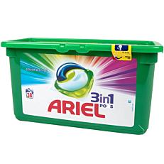 Απορρυπαντικό ARIEL Color 3 σε 1 πλυντηρίου ρούχων, σε υγρές κάψουλες (38τεμ.)