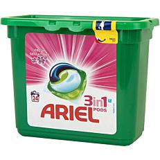 Απορρυπαντικό ARIEL FRESH SENSATIONS 3 σε 1 πλυντηρίου ρούχων, σε υγρές κάψουλες (24τεμ.)