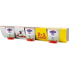 Γιαούρτι επιδόρπιο ΦΑΓΕ Total 2% με φράουλα (3x170g)