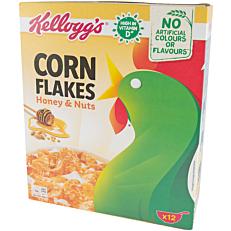 Δημητριακά KELLOGG'S Corn Flakes με μέλι και καρύδια (375g)