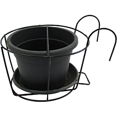 Γλάστρα Kit 20 με μεταλλική βάση ανθρακί