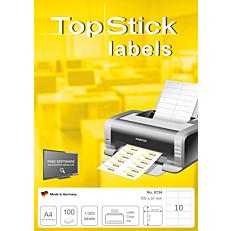 Ετικέτες TOP STICK 8734 105x57, 100 φύλλα