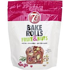 Αρτοσκεύασμα 7DAYS BAKE ROLL fruit & nuts, Φυστίκι, κράνμπερι, δεντρολίβανο (80g)