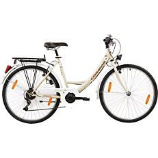 """Ποδήλατο COSMOS ELEGANCA CITY 24"""" 6 ταχύτητες, γυναικείο, μπεζ"""