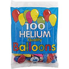 Μπαλόνια σε διάφορα χρώματα 23cm (100τεμ.)