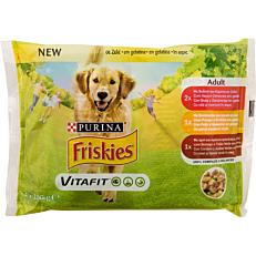 Τροφή FRISKIES σκύλου βοδινό, καρότο και αρνί (4x100g)