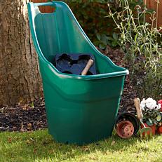 Καρότσι κήπου τροχήλατο πράσινο (57lt)