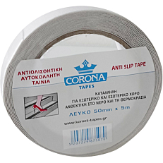 Ταινία CORONA αντιολισθητική λευκή 5m x 50mm