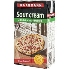 Sour cream NAARMANN 24% λιπαρά (1lt)