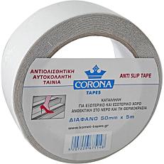 Ταινία CORONA αντιολισθητική διαφανής 5m x 50mm