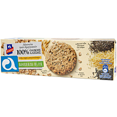 Μπισκότα ΑΛΛΑΤΙΝΗ με 3 δημητριακά ολικής άλεσης με πολύσπορο (220g)