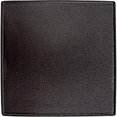 Πιάτο τετράγωνο ρηχό κεραμικό GUSTA μαύρο 22,7x22,7cm