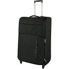 Βαλίτσα με 4 ρόδες μαύρη 79x29x49cm
