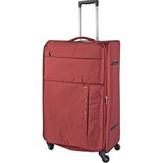 Βαλίτσα με 4 ρόδες κόκκινη 79x29x49cm