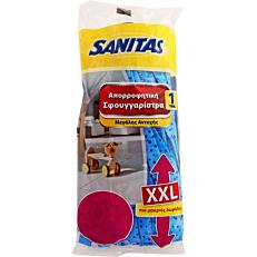 Σφουγγαρίστρα SANITAS xxl με χοντρό κάλυκα μπλε