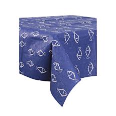 Τραπεζομάντηλα Dama μπλε, με σχέδιο ψαράκια 1x1m (50τεμ.)