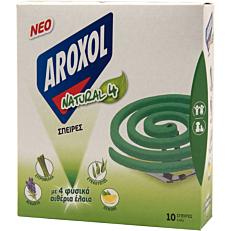 Εντομοαπωθητικό AROXOL spiral με 4 φυσικά αιθέρια έλαια (10τεμ.)