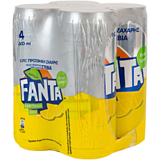 Αναψυκτικό FANTA λεμονάδα zero με stevia (4x330ml)