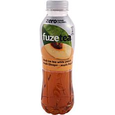 Αφέψημα FUZE zero με λευκό ροδάκινο (500ml)
