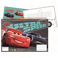 Μπλοκ ζωγραφικής GIM Cars 40 φύλλων 23x33cm, με stickers