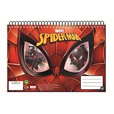 Μπλοκ ζωγραφικής GIM Spiderman A4 σπιράλ 30 φύλλων