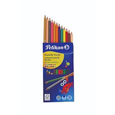 Ξυλομπογιές PELIKAN με διπλή μύτη σε 24 χρώματα (12τεμ.)