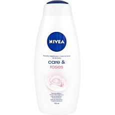 Αφρόλουτρο NIVEA care & roses με γάλα αμυγδάλου και άρωμα τριαντάφυλλου (750ml)