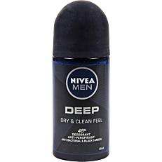 Αποσμητικό σώματος NIVEA MEN DEEP DRY & CLEAN FEEL roll on (50ml)