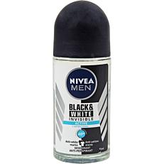 Αποσμητικό σώματος NIVEA MEN BLACK & WHITE INVISIBLE roll on (50ml)