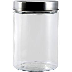 Δοχείο γυάλινο με inox καπάκι 1,3lt 12x17cm